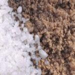 Мраморная крошка и соль