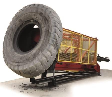 Восстановленная крупногабаритная шина