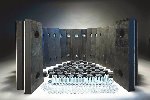 футеровочные материалы для изнашиваемых частей дсо
