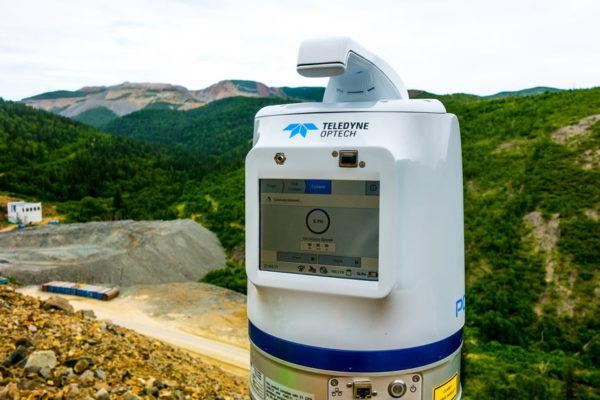 лазерное сканирование месторождения