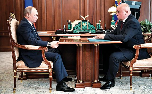 Встреча Путина с главами угледобывающих регионов в День шахтера
