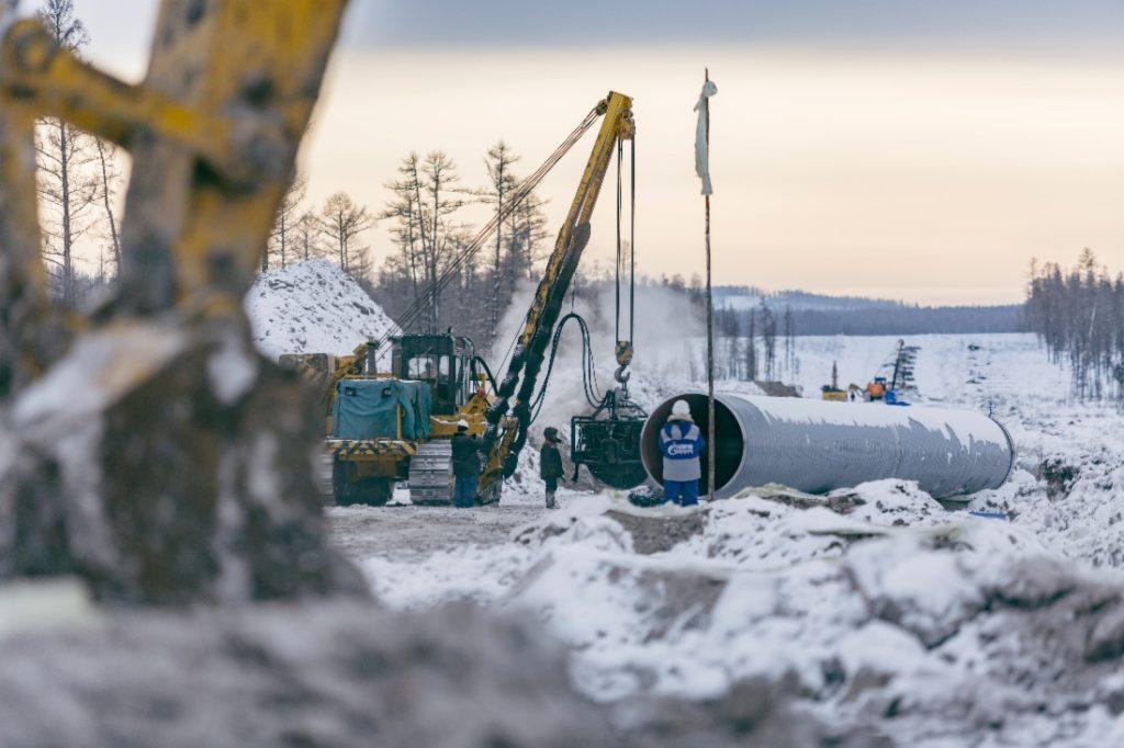 укладка газопровода