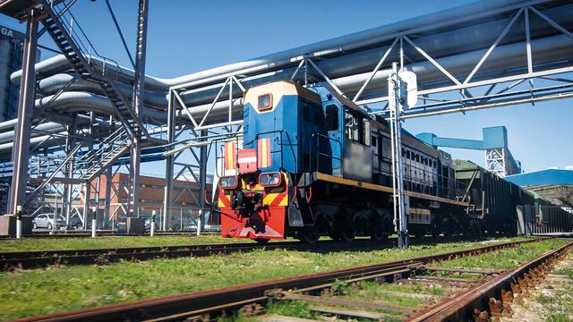 Железнодорожные пути угля