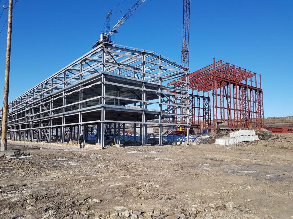 строительство фабрики Инаглинская 2