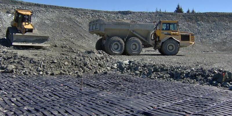 укрепление отвала на руднике