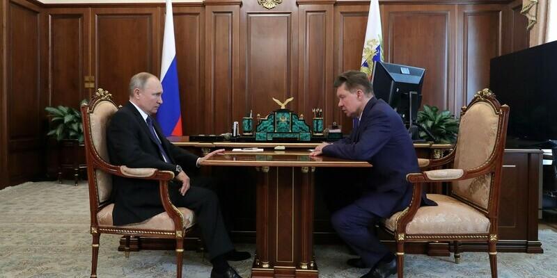 Владимир Путин и Александр Миллер