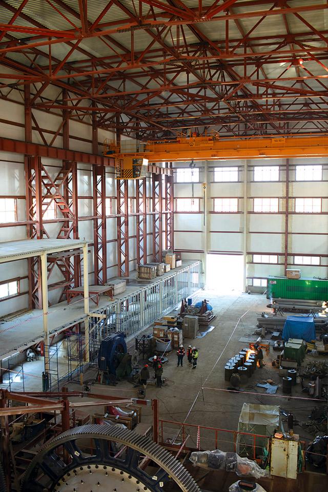 Строительство обогатительной фабрики Наседкино