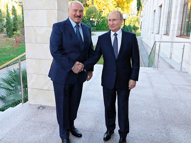 Лукашенко и Путин на встрече