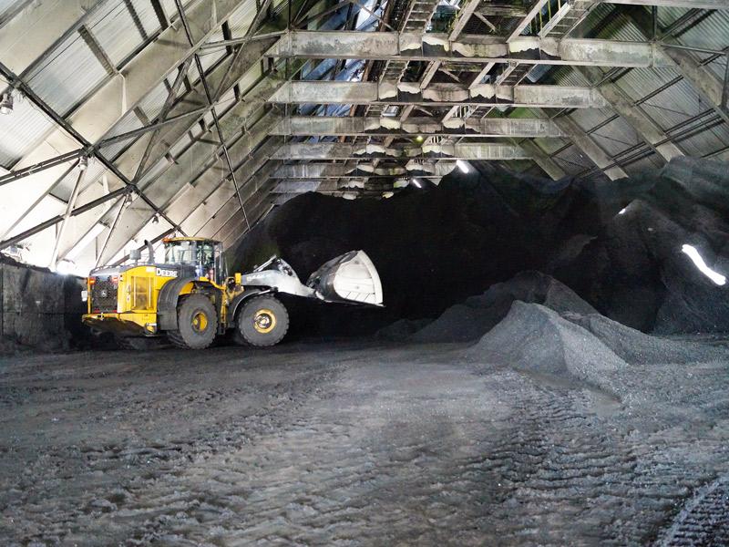 складирование угля