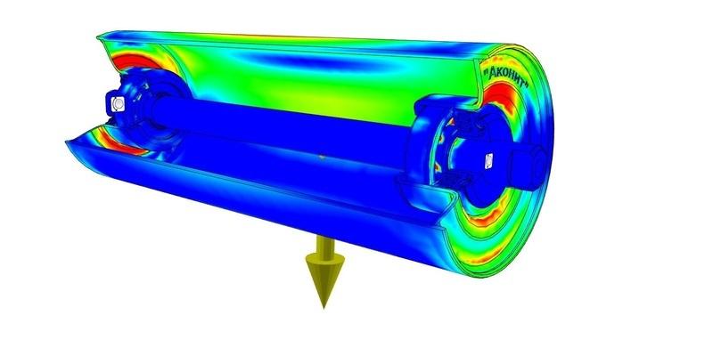модель конвейерного ролика
