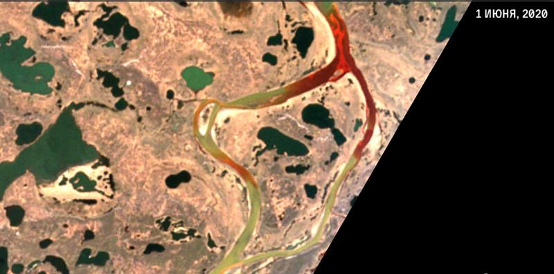 космоснимок авария Норильск