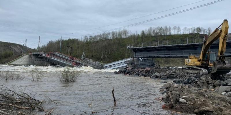 Мурманск обрушение моста