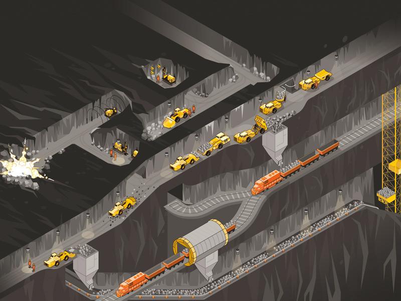 Цикл подземных горных работ