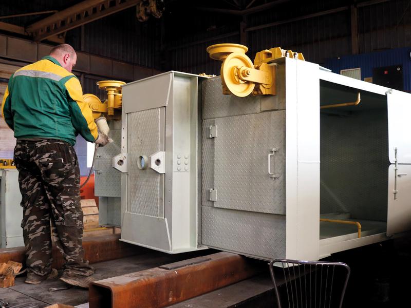 Новые шахтные клети. Тульский завод горно-шахтного оборудования