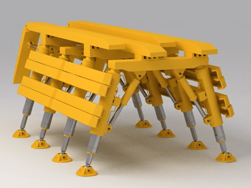 роботизированный шагающий модуль