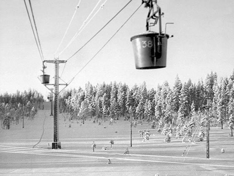 Корзина канатной дороги 1943 год