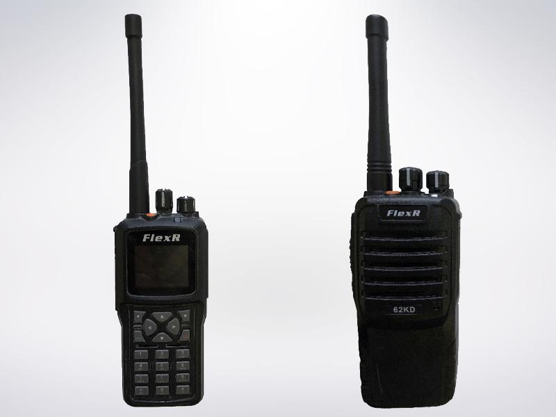 Рис.2 Портативные радиостанции Flex-R стандарта DMR (без DTMF, с DTMF) 2