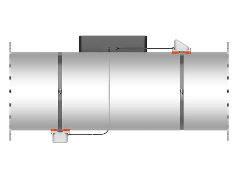 Пример установки датчиков комплекса Nonius SM на трубе