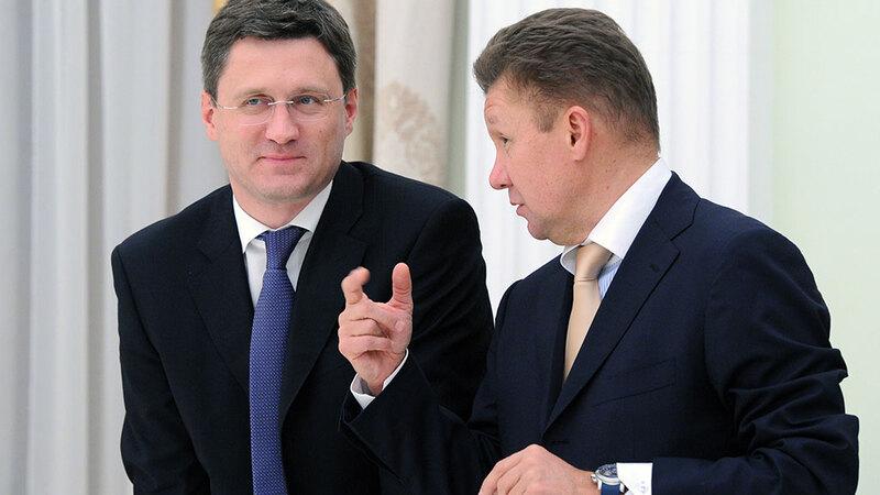 Алексей Миллер и Александр Новак