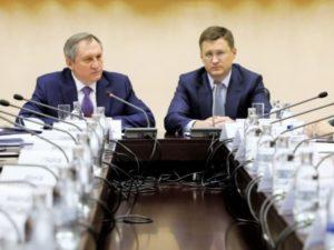 Александр Новак и Николай Шульгинов