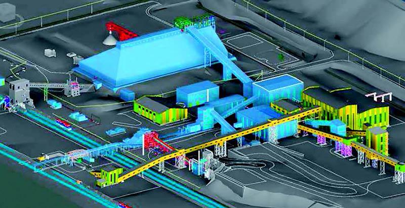 Тугнуйская обогатительная фабрика вместе с новым модулем в 3D