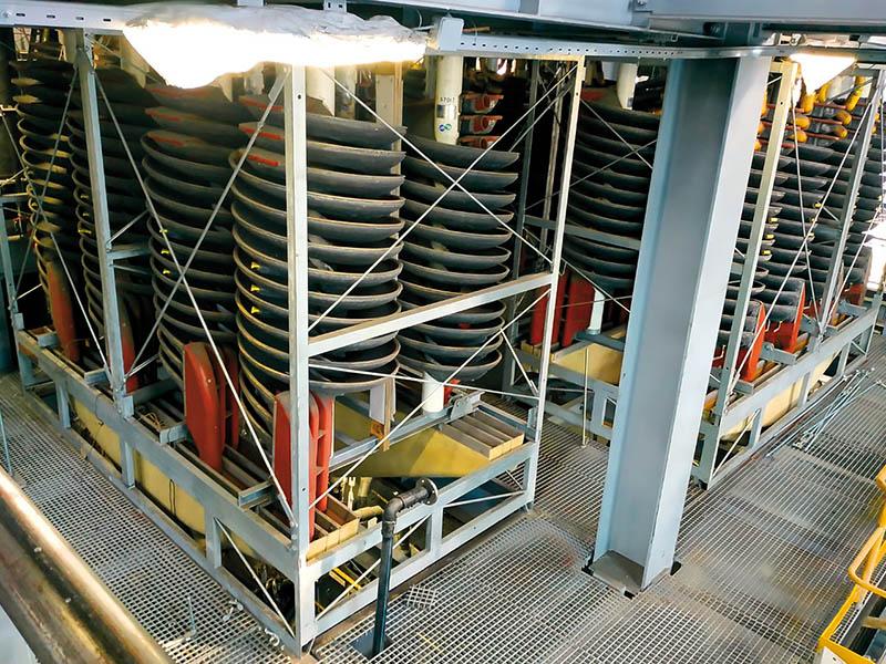 Увеличение выхода концентрата обогатительной фабрики путём внедрения спирального сепаратора с низкой точкой разделения
