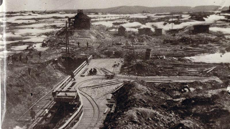 Гумёшевский рудник в начале XX века. Фото из Мемориального дома-музея П. П. Бажова