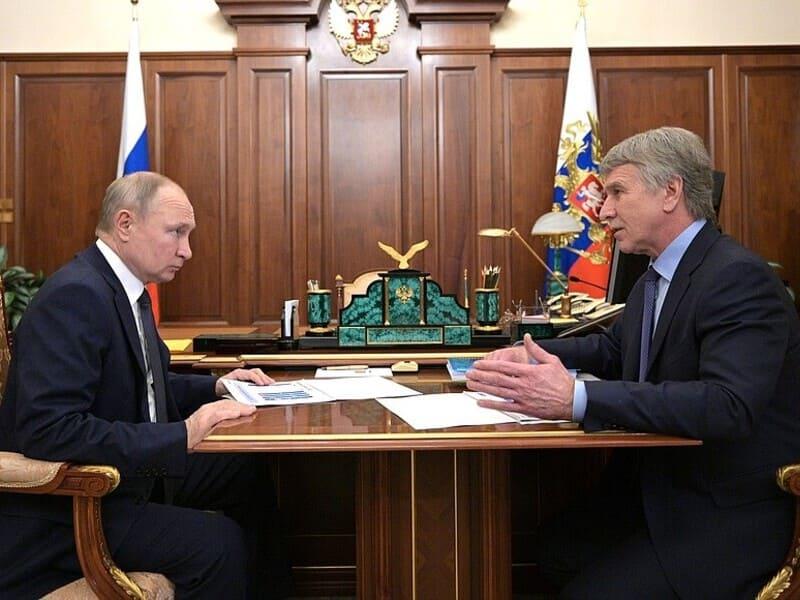 Леонид Михельсон и Владимир Путин