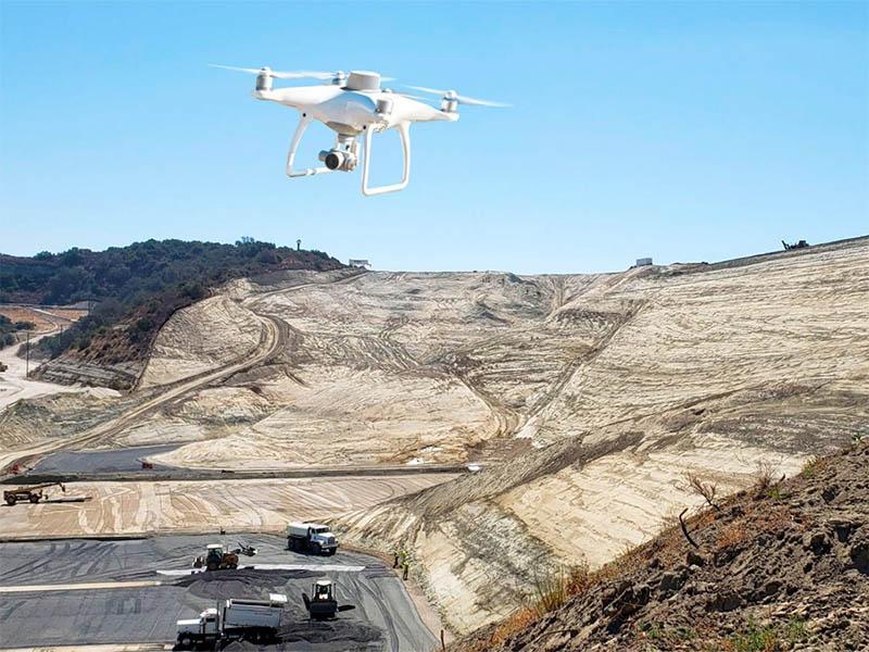 Съёмка карьера с воздуха с помощью квадрокоптера DJI Phantom 4 RTK